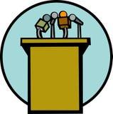 mikrofonów konferencji stanąć wektora Zdjęcie Stock