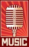 Mikrofon vektor illustrationer
