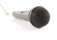 mikrofon 4 plattforer upp Fotografering för Bildbyråer