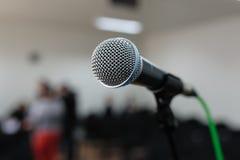 Mikrofon Fotografering för Bildbyråer