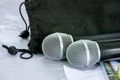 Mikrofon Zdjęcia Royalty Free