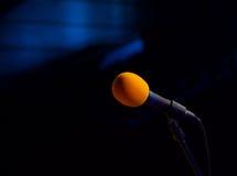 Mikrofon auf der Stufe Lizenzfreies Stockbild