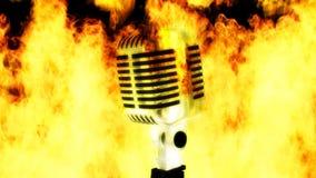 Mikrofon auf Feuer stock footage