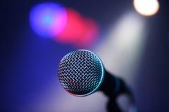 Mikrofon auf Stadium Lizenzfreie Stockfotos