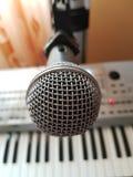 Mikrofon auf Stand Stockbilder