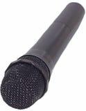 Mikrofon auf Weiß Stockfotografie