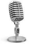 Mikrofon (Beschneidungspfad eingeschlossen) Stock Abbildung
