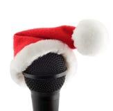 Mikrofon der frohen Weihnachten Stockbild