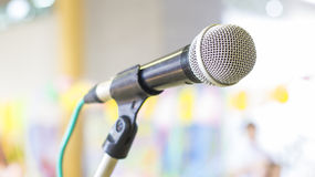 Mikrofon dla konferenci Zdjęcia Stock