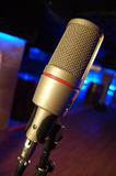 Mikrofon in einem Stab. Stockfotografie