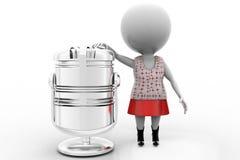 mikrofon för kvinnor 3d Arkivfoto