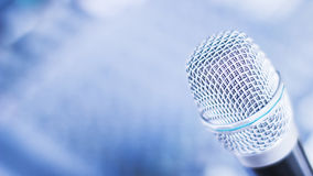 Mikrofon für Konferenz Stockfoto