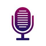 Mikrofon ikona Symbol piosenkarz, muzyka i radio, Elegancki i nowożytny ilustracji