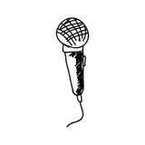 Mikrofon ikony rysunkowy wizerunek Zdjęcia Stock