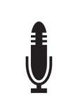 Mikrofon ikony wektor Zdjęcia Royalty Free
