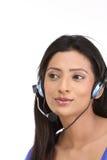 mikrofon indyjska kobieta obraz royalty free