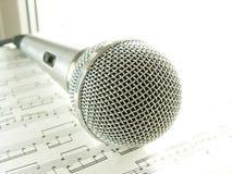 mikrofon karaoke Obraz Stock