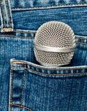 mikrofon kieszeń obrazy stock