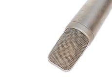 Mikrofon, kondensator mic na białym tle fotografia stock