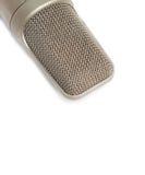 Mikrofon, kondensator mic na białym tle zdjęcie royalty free