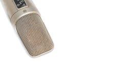 Mikrofon, kondensator mic na białym tle obraz stock