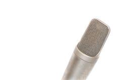 Mikrofon, kondensator mic na białym tle fotografia royalty free