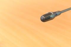 Mikrofon konferencja zdjęcie stock