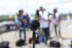 Mikrofon Konferencja prasowa zdjęcia royalty free