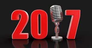 Mikrofon mit 2017 Lizenzfreie Stockfotografie