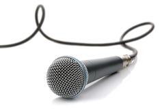 Mikrofon mit Seilzug lizenzfreie stockfotos