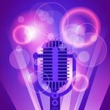 Mikrofon-Musik-Fahnen-bunter Pop Art Style Modern Musical Poster lizenzfreie abbildung