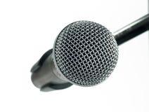 Mikrofon na białym tle Fotografia Royalty Free