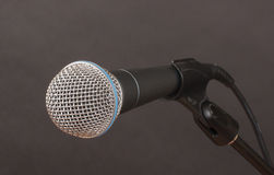 Mikrofon na węglu drzewnym Obraz Royalty Free