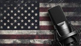 Mikrofon Nowożytny systemu dźwiękowego wyposażenie Zdjęcia Royalty Free