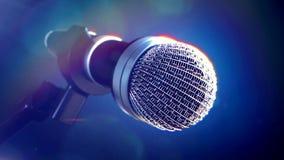 Mikrofon på etapp Royaltyfri Bild