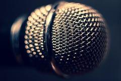Mikrofon på etapp Närbild Arkivfoto