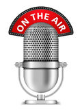 Mikrofon på luften stock illustrationer