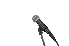 Mikrofon på vit Royaltyfri Bild