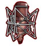 mikrofon profesjonalista muzyki Obraz Stock
