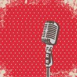 Mikrofon-Punktvektor Lizenzfreies Stockfoto