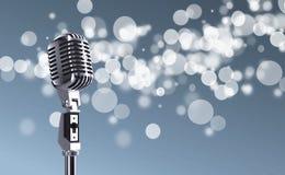 mikrofon retro Zdjęcia Royalty Free