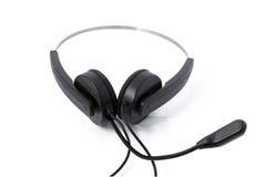 mikrofon słuchawki Fotografia Stock