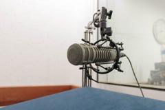 Mikrofon, stary metal mic Obrazy Stock