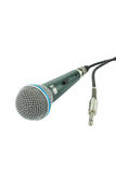 Mikrofon und eine Steckfassung Lizenzfreies Stockbild