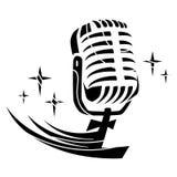 Mikrofon Vektor Lizenzfreie Stockfotografie