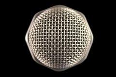 Mikrofon von der Oberseite Stockbild