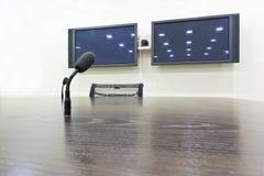 Mikrofon w sala posiedzeń fotografia royalty free