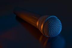 mikrofon wokalnie Obrazy Royalty Free