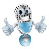 Mikrofon-Zeichentrickfilm-Figur Stockfoto