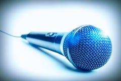 Mikrofoncloseup Arkivfoto